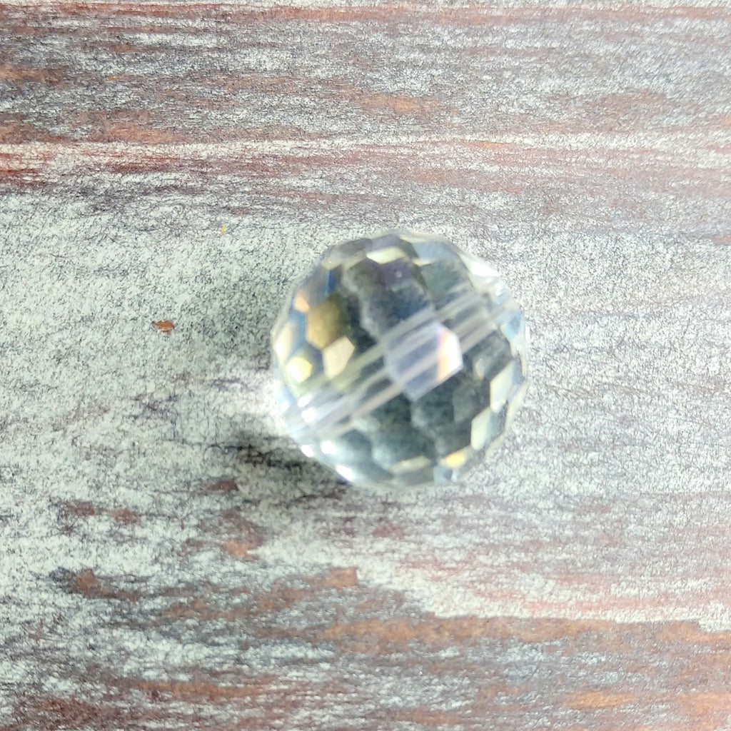 CCR-1002 - Chinese Crystal Multi Faceted Round Bead,Crystal,16mm | Pkg 1