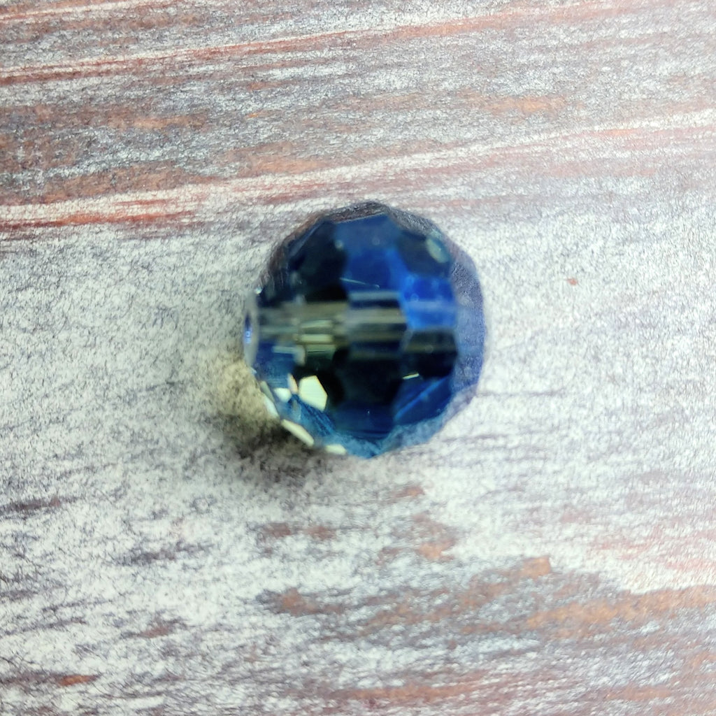 CCR-1001 - Chinese Crystal Multi Faceted Bead,Blue Vitral,16mm | Pkg 1
