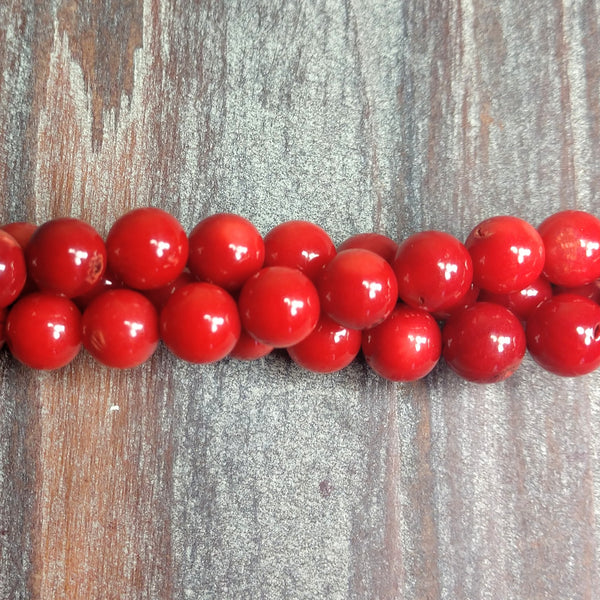 GM-0259 - Coral Gemstone Bead Strand, 7mm | Pkg 1 Strand
