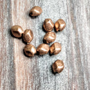 AB-0593 - Metal Beads,Antique Copper Nugget Beads,5.5x7mm | Pkg 10