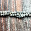 GM-0320 - Black Crazy Lace Agate 4mm Faceted Gemstone Bead Strand | 1 Strand