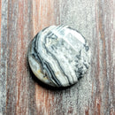 GM-2029 - Black Crazy Lace Agate Round Gemstone Pendant,30mm | Pkg 1