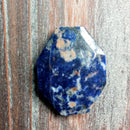 GM-0276 - Sodalite Faceted Octagon Gemstone Pendant,32x42mm | Pkg 1