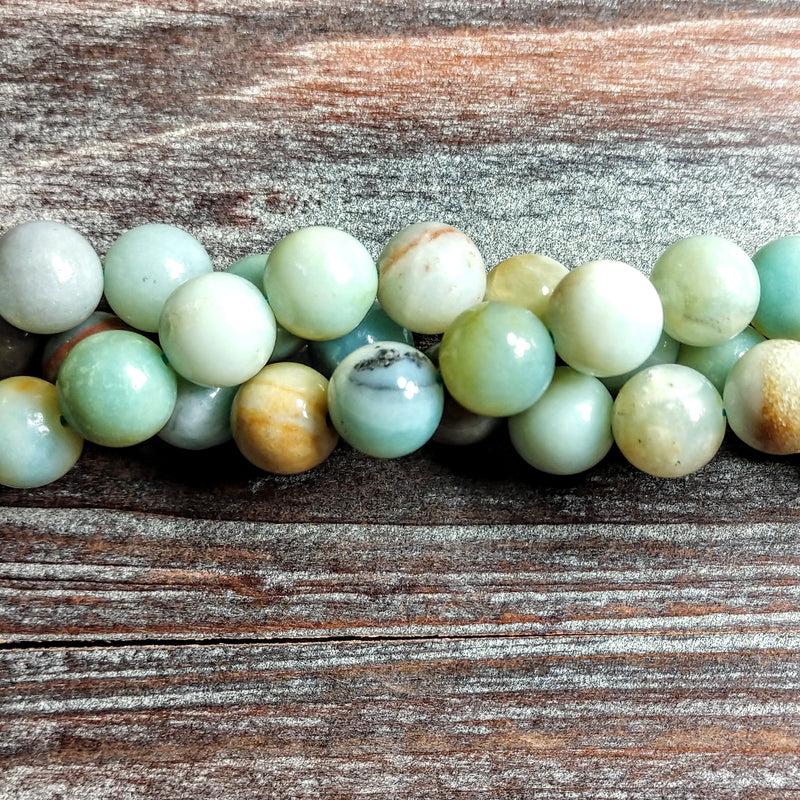 GM-0818 - Amazonite Gemstone Bead Strand, 10mm | Pkg 1 Strand