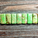 GM-0504 - Green Variscite Double Drilled Gemstone Beads,8 x20mm | 1 Strand