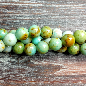 CL-GM-5015 - Natural Green Jade Gemstone Beads, 10mm | Pkg 1 Strand