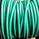 GL/017/3 - Leather Cord,Turquoise,3mm | Pkg 4 Feet