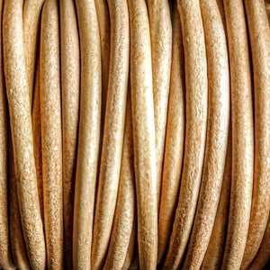 GL/01/3 - Leather Cord, Natural, 3mm | Pkg 4 Feet