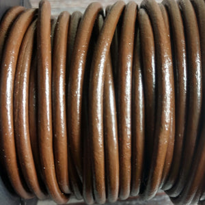 GL/03C/3 - Leather Cord, Chocolate, 3mm | Pkg 4 Feet