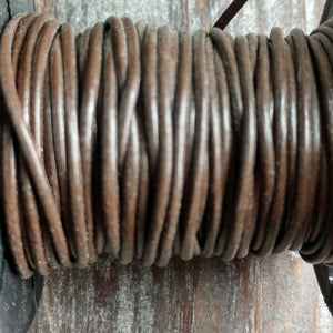 GL/03/2 - Leather Cord, Reddish Brown, 2mm | Pkg 4 Feet