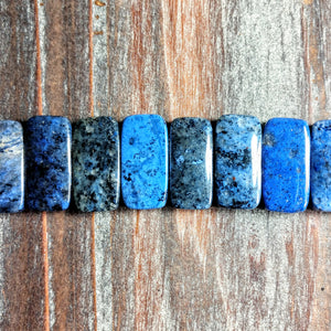 GM-3120 - Gemstone Beads, Double Drilled Sodalite, 12x20mm | Pkg 1