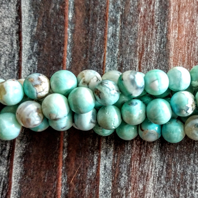 GM-0532 - 8mm Porcelain Agate Gemstone Bead Strand | Pkg 1 Strand