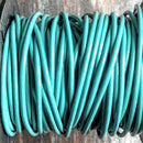 GL/017/1 - Leather Cord, Turquoise, 1mm | Pkg 4 Feet