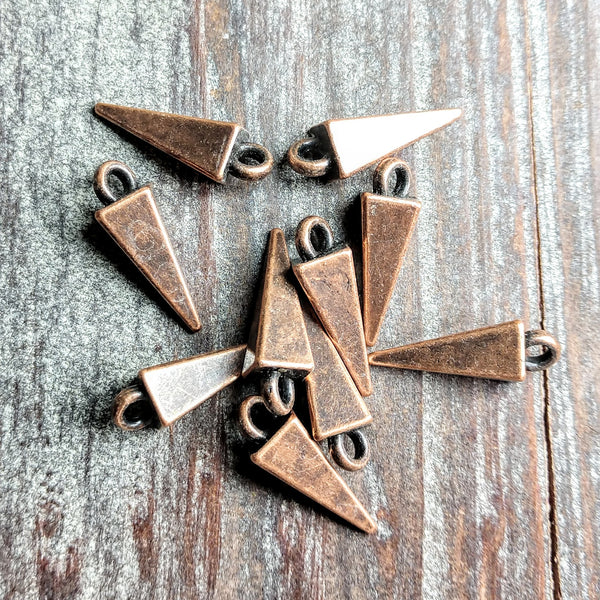 AB-2107 - Antique Copper Charms, Daggers, 5x17mm | Pkg 10