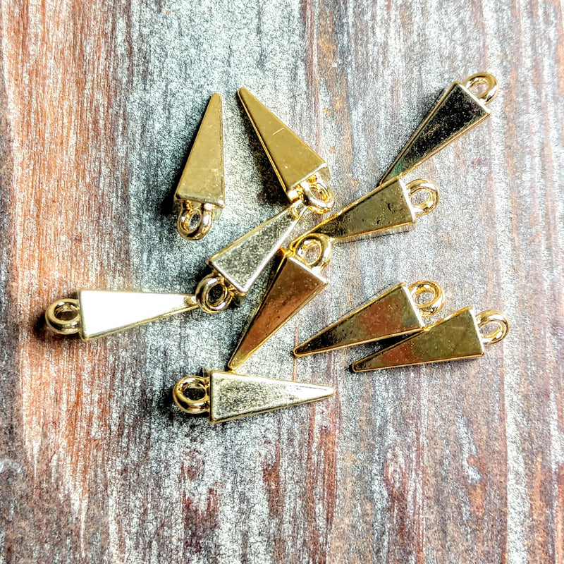 AB-2106 - Gold Charms, Daggers, 5x17mm | Pkg 10