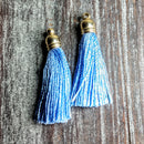 AB-3106 - Jewelry Tassel, Silk Thread, Periwinkle, 6x37mm | Pkg 2