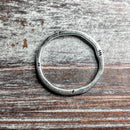 AB-0262 - Silver Pewter 32mm Ancient Style Ring | Pkg 5
