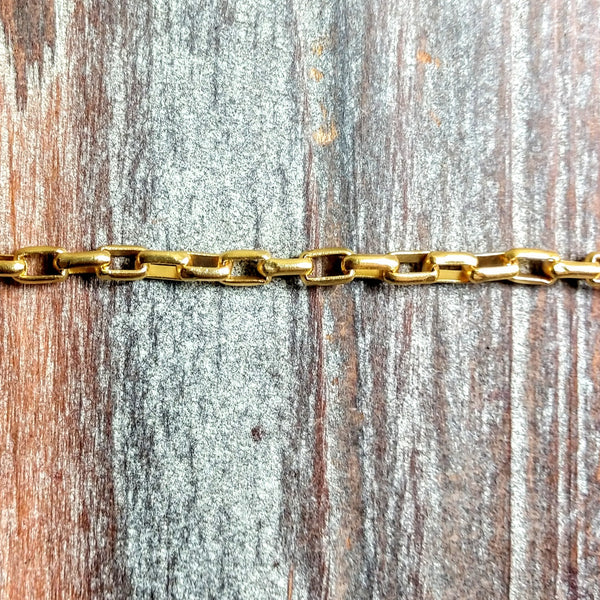 CHN-0115 - Gold Chain, Box, 3.5x5mm | Pkg 3 Feet