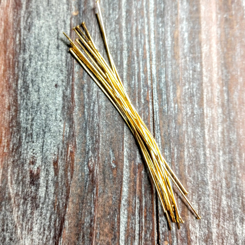 HP24/300G - Head Pins,Gold Plated,3 Inch | Pkg 10