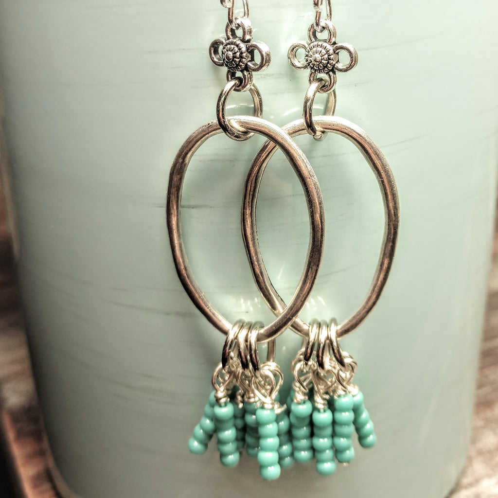 #PDF-512 - Turquoise Dangle Earrings by Susie Henderson