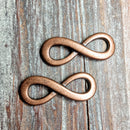 AB-3245 - Antique Copper Infinity Link,13x35mm | Pkg 2