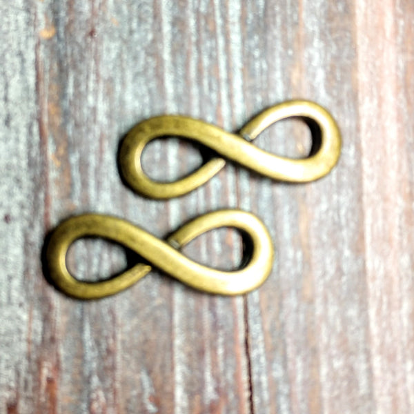 AB-3244 - Antique Brass Infinity Link,13x35mm | Pkg 2