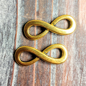 AB-3243 - Antique Gold Infinity Link, 13x35mm | Pkg 2