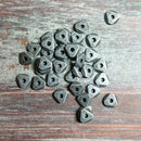 AB-5101 - Gunmetal Beads, Triangle Nuggets, 6mm | Pkg 50