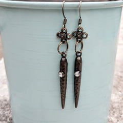 #PDF-529 - Victorian Dagger Earrings