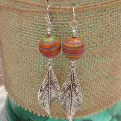 #PDF-530 - Colorful Leaf Earrings
