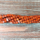 "GM-0677 - Howlite Cube Gemstone Bead Strand,Chocolate,4mm | 16"" Strand"