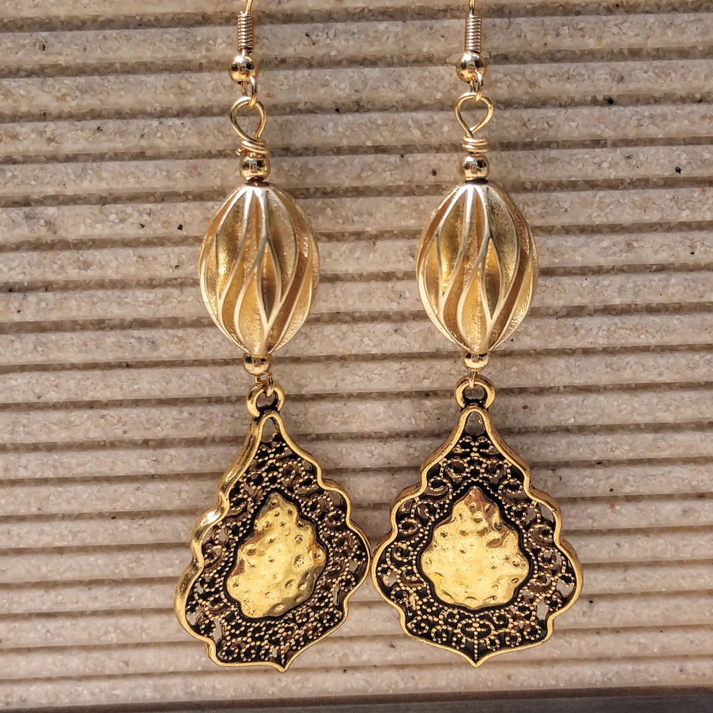 #PDF-546 - Gold Drop Earrings