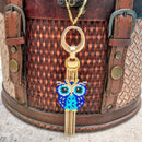 #PDF-556 - Owl on the Fringe Necklace