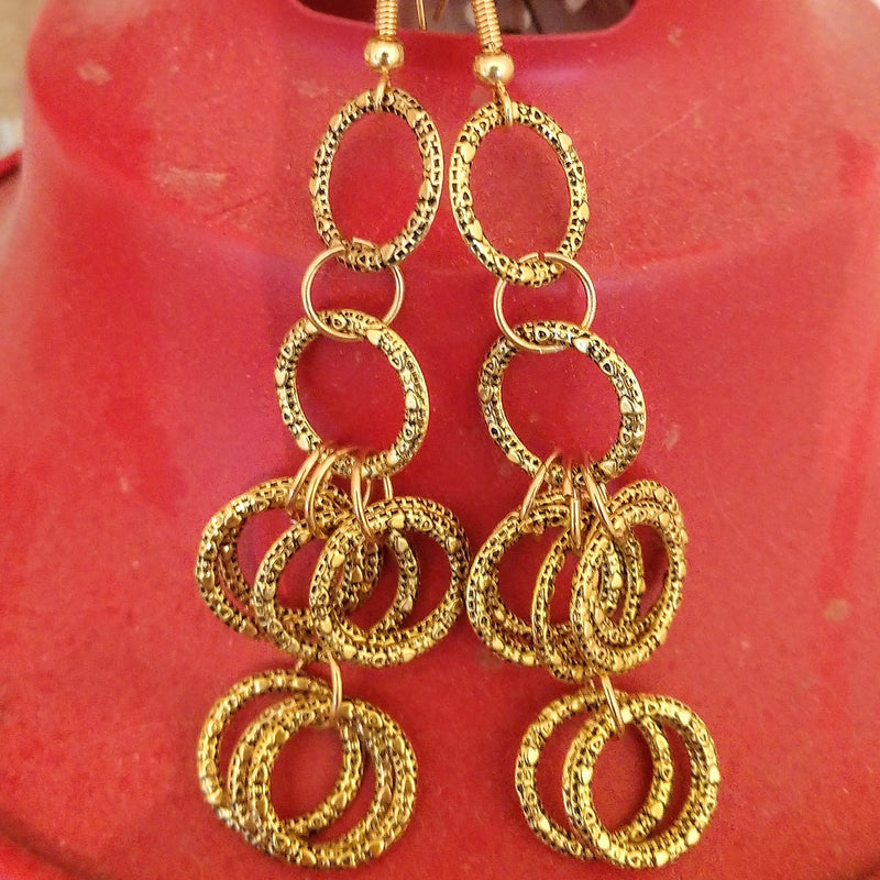 #PDF-561 - Golden Drop Earrings