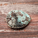 GM-5504 - Blue/Green Ocean Jasper Gemstone Connector, 28x48mm | Pkg 1