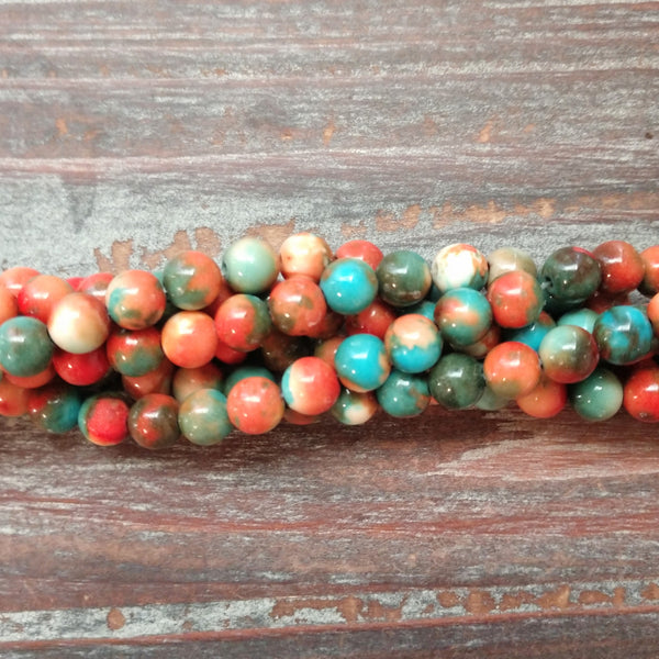 AB-5454 - Composite Of Turquoise Gemstone Beads, Sedona Sunset, 6mm | Pkg 1