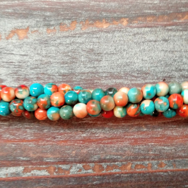 GM-5452 - Composite Of Turquoise Gemstone Beads, Sedona Sunset, 4mm | Pkg 1