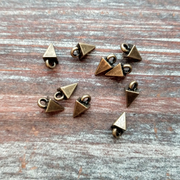 AB-7911 - Antique Brass Dagger Charms, 5x10mm | Pkg 10