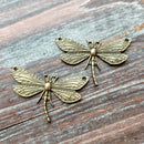AB-7933 - Antique Brass Dragonfly Connector/Pendant, 18x48mm | Pkg 2
