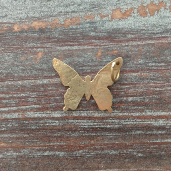 AB-7939 - Genuine Brass Butterfly Charm/Pendant, 22mm | Pkg 1