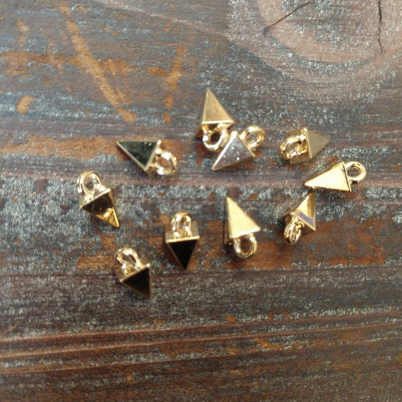 AB-9101 - Gold Plated Daggers, 5x10mm | Pkg 10
