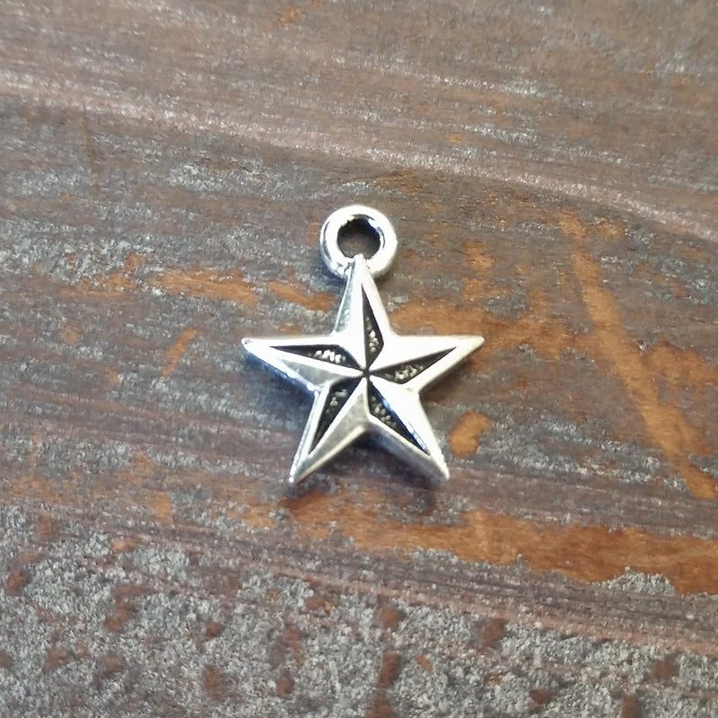 CL-94-2299-12 - Tierracast Nautical Charm, Silver, 15x18mm | Pkg 1