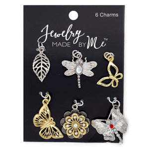 J22190201C - Silver And Gold Plated Outdoor Charms | Pkg