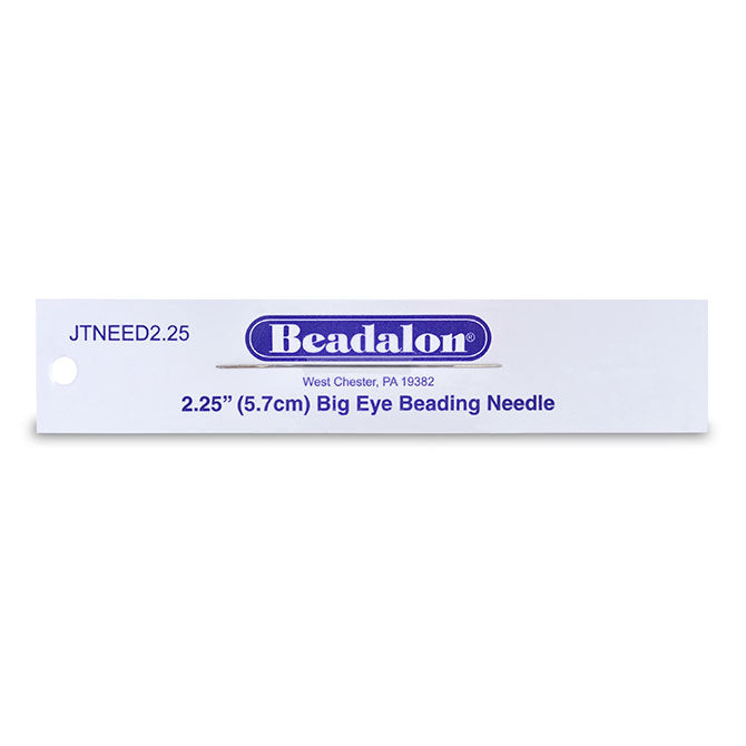 JNEED2.25_ - Big Eye Beading Needles, 2.25 in (12.7 cm), 1 pc | Pkg 1