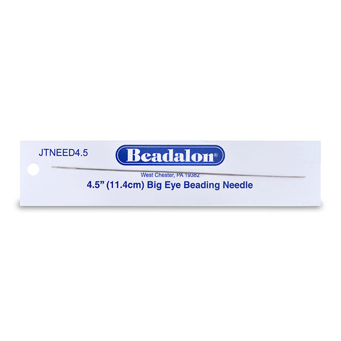 JNEED4.5_ - Big Eye Beading Needles, 4.5 in (12.7 cm), 1 pc | Pkg 1