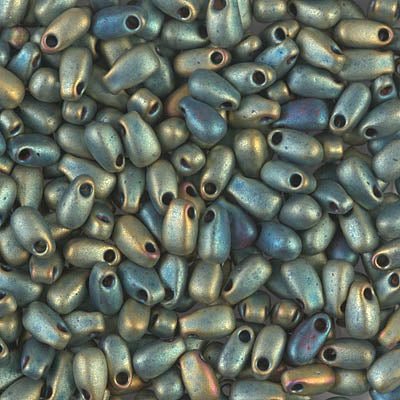 LDP-2008 - Miyuki 3x5.5mm Long Drop Bead Matte Met Patina Iris | 25 Grams