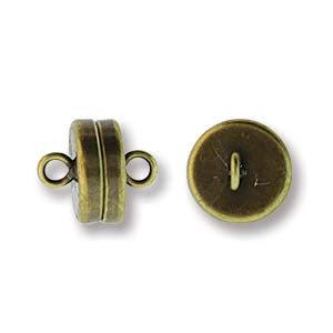 MGN12ABP - Magnetic Clasp 8mm, Ant Brass Plate | Pkg 1