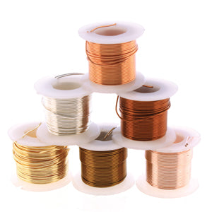 NTW24-6P - Lacquered, Anti Tarnish Wire, Assorted, 2 Yards Each, 24 Gauge | Pkg 6