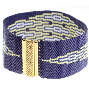 #PDF-225 - Nautical Ikat Bracelet by Carole Dean Sharpe