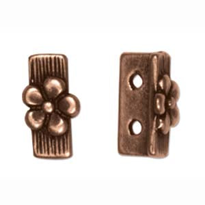 PAC6257 - Antique Copper 2 Hole Spacer Bead | Pkg 1